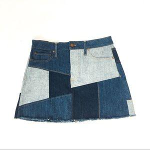Alice + Olivia Skirts - Alice & Olivia patchwork denim skirt
